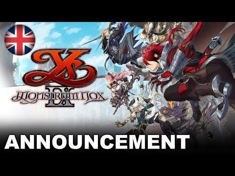 Ys IX: Monstrum Nox - Announcement Trailer (PS4, Nintendo Switch, PC) (EU - English)
