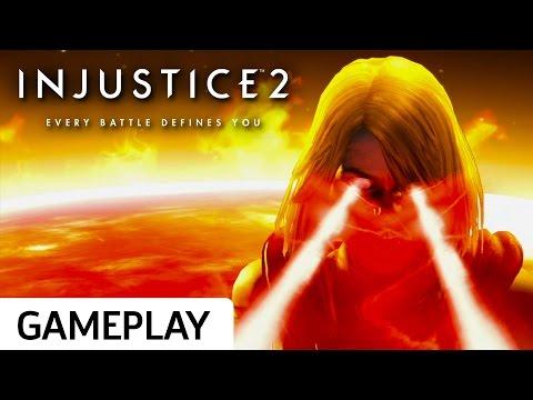 Supergirl vs. Atrocitus - Injustice 2 Beta Gameplay