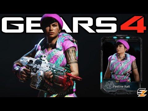 """Gears of War 4 - """"Festive Kait"""" Multiplayer Gameplay! (Gears of War 4 Gearsmas DLC Character)"""