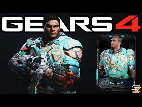 """Gears of War 4 - """"Festive JD"""" Multiplayer Gameplay! (Gears of War 4 Gearsmas DLC Character)"""