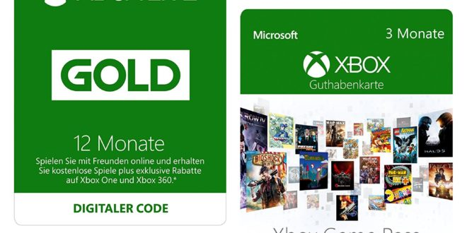 Amazon 12 Monate Xbox Live Gold 3 Monate Xbox Game Pass